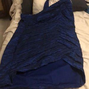 Plus size 3X hi lo blue dress